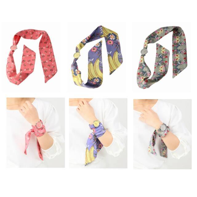 233504933558 スカーフは取り外すことができ付属のレザーベルトに付け替えることができます!