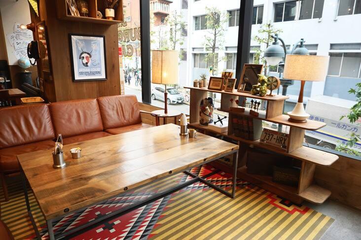 男前インテリアにわくわく! J.S. BURGERS CAFE渋谷店