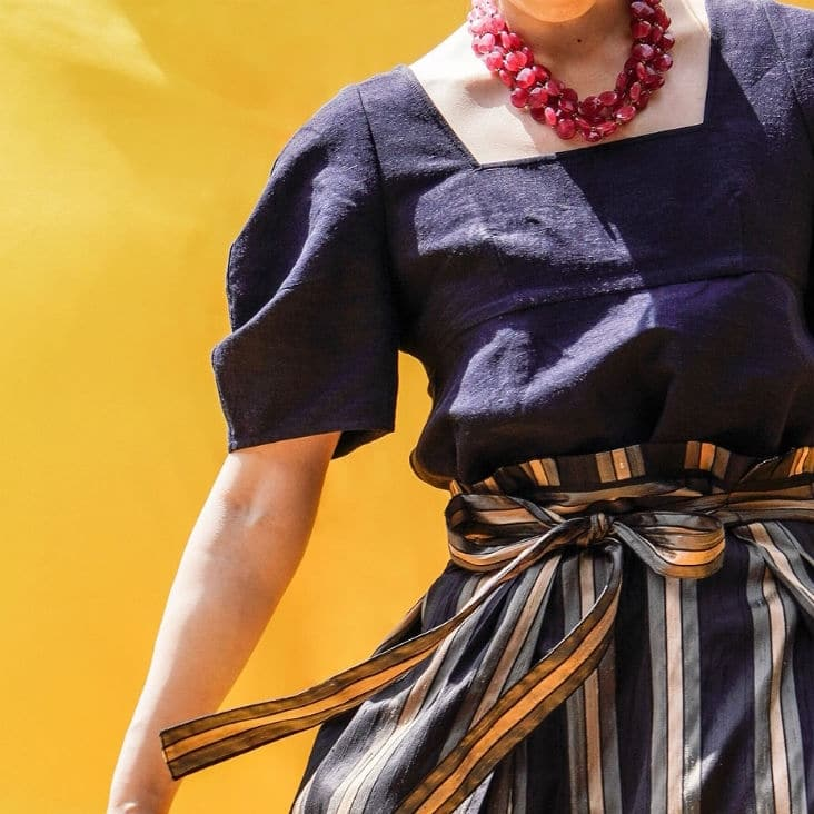 VERMEIL par iena  夏 ブラック スタイリング
