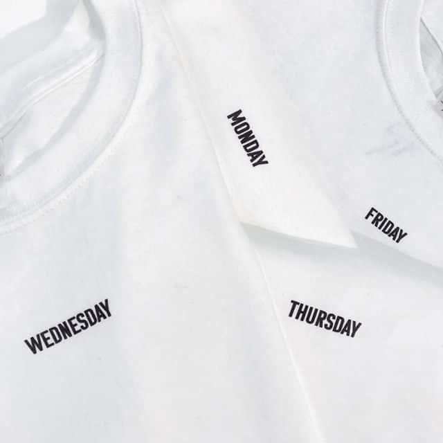 「ドゥーズィエムクラス  曜日Tシャツ」の画像検索結果