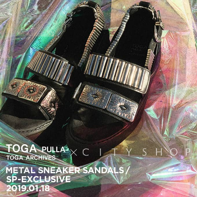 TOGA PULLA×CITYSHOP METAL SNEAKER SANDALS