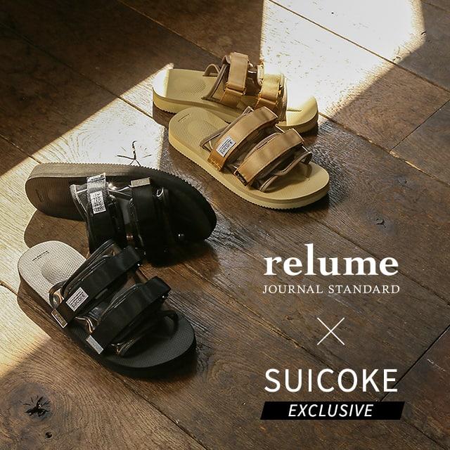 JOURNAL STANDARD relume × SUICOKE relumeでしか手に入らないトレンド感満載の別注サンダルが登場!