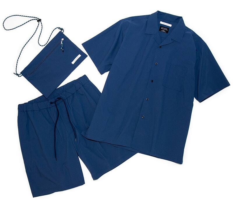【SOLOTEX】 LIGHT ストレッチオープンカラーシャツ3SETアイテム