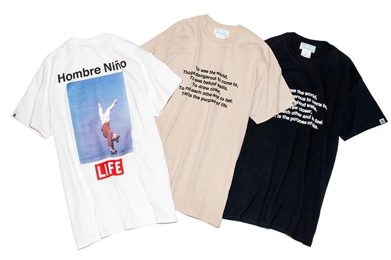 LIFE×Hombre Nino フロントロゴ Tシャツ