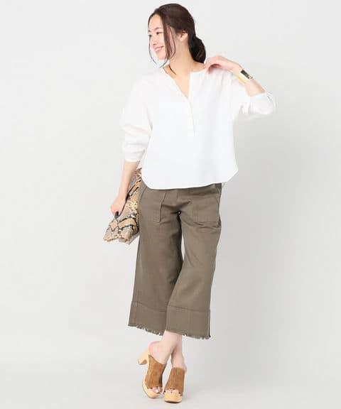 Spick & Span 60/- LINEN プルオーバー◆