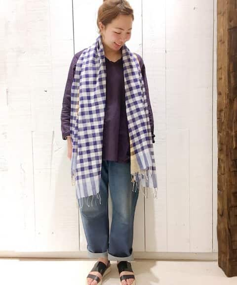 journal standard luxe 【 KORA KAPDA/コラカプダ 】 ギンガムストール 175*95◆