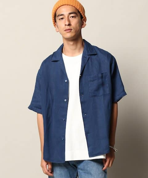 JOURNAL STANDARD relume NO.66リネン オープンカラーシャツ