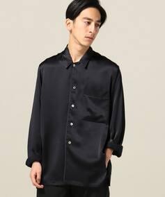 AILE シルクサテン パジャマシャツ