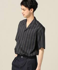 AILE C/Si ポプリン オープンカラー半袖シャツ