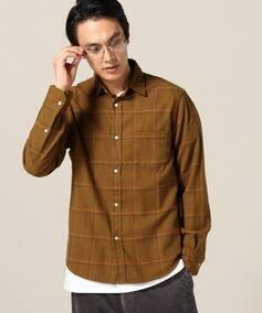 2トーンフランネルチェックシャツ