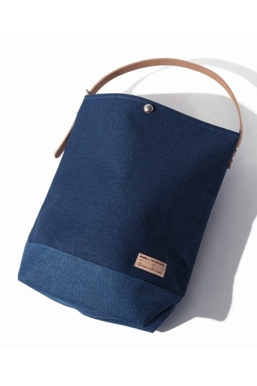 buddy×SKU Collar Leather Shoulder Belt【Wash Blue Series】