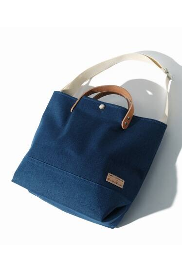 buddy×SKU Collar Leather Tote Short【Wash Blue Series】