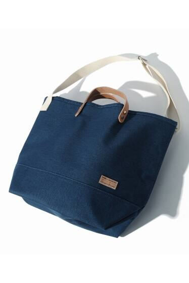 buddy×SKU Collar Leather Tote Wide【Wash Blue Series】