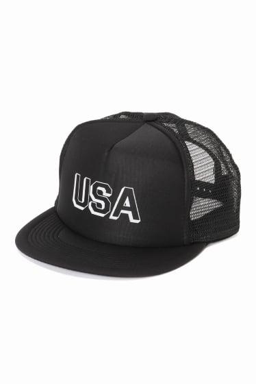 Trucker Cap W/USA Block Print