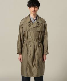 Nylon Raglan Trench Coat 18020330200418: Brown