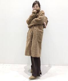 *YVES SALOMON MOUTON COAT◆