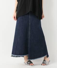 12オンスデニムマキシフレアスカート