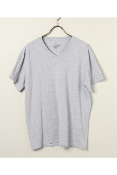 SAVE KHAKI UNITED  : S/S HEATHER V-NECK TEE