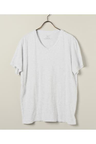 【カタログ掲載】SAVE KHAKI UNITED  : S/S OATMEAL HEATHER V-NECK
