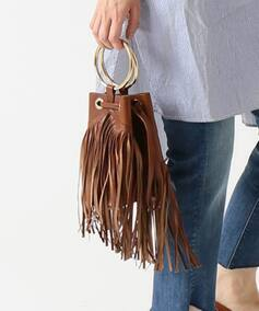 MAISON BOINET FRINGE RING BAG