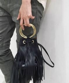 MAISON BOINET FRINGE RING BAG