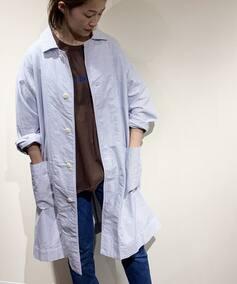 【ts(s) /ティーエスエス】  Cotton Stripe Oxford Shirt Coat◆