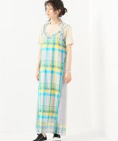 WM  BIG CHECK CONTRASTED STRAP DRESS