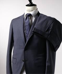 CFT 3ボタン スーツ REDA ICESENSE ブルーストライプ