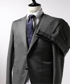 CFT 3ボタン スーツ ヘリンボーン