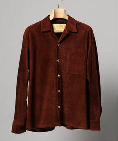 7X7 / SEVEN BY SEVEN OPEN COLLAR SHIRTS PIG SUEDE