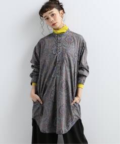 【ENGINEERED GARMENTS / エンジニアドガーメンツ】banded coller shirts:シャツ