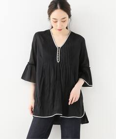 AHUJAS EMBROIDERY S/S BLOUSE