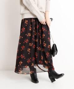LISA フラワープリントギャザースカート