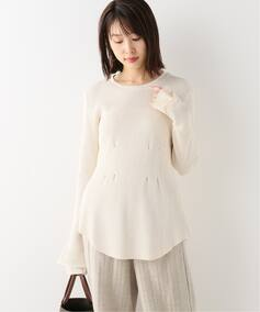 【Uhr(ウーア)】Tucked Long Tee:カットソー