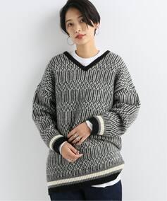 77circa 2way Navajo twill pattern jaquard knit