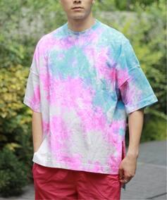 PANNILL/パニール  USA SLIT タイダイTシャツ