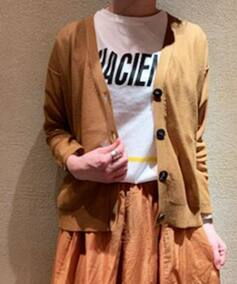 【POMANDERE/ポマンデール】 cotton ny  V/N cardigan◆