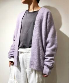 【ATON/エイトン】FUR CASHMERE SHORT CARDIGAN