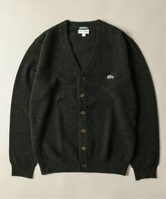 Wool Pique V-neck Cardigan 19080465000230: Green