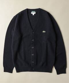 Wool Pique V-neck Cardigan 19080465000230: Navy