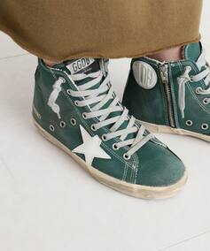 *GOLDEN GOOSE GREEN HI SNEAKERS
