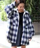 J-ネルチェック*キルト2wayシャツジャケット