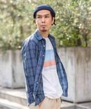 《予約》【INDIGO LINEN / インディゴ リネン】 ロングスリーブレギュラーシャツ