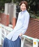 【NEU】キュプラストライプダブルボタンシャツ