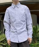 Ox stripe wide shirt:シャツ