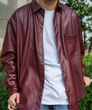 【MEN'S NONNO掲載】SYNTHETIC LEATHER DADシャツ