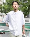 70/-SUVIN color バンドカラーシャツ