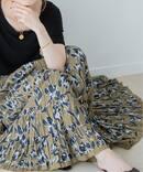 【MARIHA】草原の虹のスカート(モノクロームアイリス)◆
