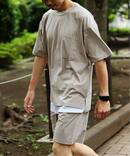 【Tシャツ+ショートパンツ+収納袋の3点SET】H/Hセットアップルームウェア1