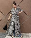 rustic flower gather ドレス◆